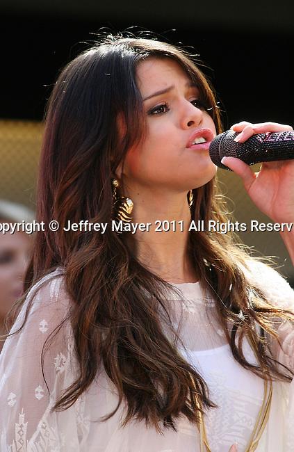"""SANTA MONICA, CA - JUNE 13: Selena Gomez attends """"Experience Monte Carlo"""" With Selena Gomez Concert Series at Santa Monica Place on June 13, 2011 in Santa Monica, California."""