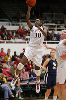 STANFORD, CA - NOVEMBER 7:  Nnemkadi Ogwumike of the Stanford Cardinal during Stanford's 87-41 win over Vanguard on November 7, 2008 at Maples Pavilion in Stanford, California.