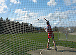 Discus throw at a track meet.