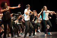 Photo from Occidental College Dance Production 2012, Friday, March 23, 2012 in Thorne Hall. One of Oxy's oldest traditions, Dance Production features student dancers performing student choreography in styles ranging from belly dancing to hip hop to jazz to dancehall. (Photo by Marc Campos, Occidental College Photographer)