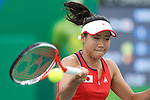 Nao Hibino (JPN), <br /> AUGUST 7, 2016 - Tennis : <br /> Women's Singles First Round <br /> at Olympic Tennis Centre <br /> during the Rio 2016 Olympic Games in Rio de Janeiro, Brazil. <br /> (Photo by Sho Tamura/AFLO SPORT)