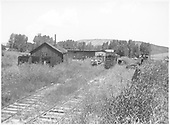 Ridgway yard after abandonment.<br /> RGS  Ridgway, CO  1952-1953