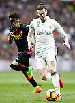 Real Madrid's Garet Bale (r) and RCD Espanyol's Hernan Perez during La Liga match. February 18,2017. (ALTERPHOTOS/Acero)