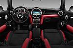 Stock photo of straight dashboard view of 2016 MINI MINI JCW 3 Door Hatchback Dashboard