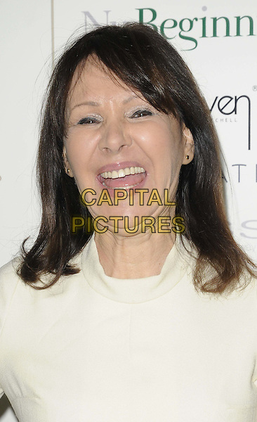 Arlene Phillips OBE.The Prince Charming Valentines Ball, Mayfair hotel, Stratton St., London, England..February 14th, 2012.headshot portrait white smiling mouth open laughing .CAP/CAN.©Can Nguyen/Capital Pictures.