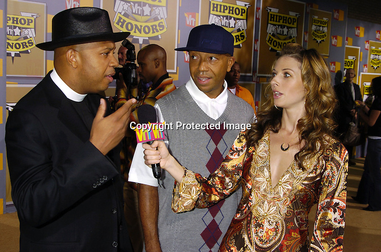 Reverend Run, Russell Simmons and Rachel Perry ..at the 2nd Annual VH1 Hip Hop Honors taping on ..September 22, 2005 which will air on VH1 on September 26, 2005. ..Photo by Robin Platzer, Twin Images