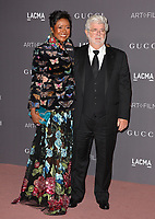 George Lucas &amp; Mellody Hobson at the 2017 LACMA Art+Film Gala at the Los Angeles County Museum of Art, Los Angeles, USA 04 Nov. 2017<br /> Picture: Paul Smith/Featureflash/SilverHub 0208 004 5359 sales@silverhubmedia.com