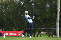 Phachara Khongwatmai (THA) on the 4th tee during Round 1 of the Omega Dubai Desert Classic, Emirates Golf Club, Dubai,  United Arab Emirates. 24/01/2019<br /> Picture: Golffile | Thos Caffrey<br /> <br /> <br /> All photo usage must carry mandatory copyright credit (&copy; Golffile | Thos Caffrey)