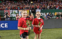 Portland, OR - Saturday May 27, 2017: Girls Inc Girls of the Game during a regular season National Women's Soccer League (NWSL) match between the Portland Thorns FC and the Boston Breakers at Providence Park.