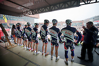 Scheldeprijs 2012..Team Lotto-Belisol on stage