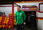 18th March 2018, Fir Park, Motherwell, Scotland; Scottish Premiership football, Motherwell versus Celtic;  Callum McGregor of Celtic arrives at Fir Park to inspect the pitch