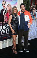 LOS ANGELES, CA - JUNE 10: Jennifer Aniston, Adam Sandler, at the Los Angeles Premiere Screening of Murder Mystery at Regency Village Theatre in Los Angeles, California on June 10, 2019. <br /> CAP/MPIFS<br /> ©MPIFS/Capital Pictures