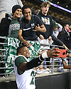 SEATTLE, WA - SEPTEMBER 14: Hawaii's (20) Zach Wilson (DB) poses for a pictures during the college football game between the Washington Huskies and the Hawaii Rainbow Warriors on September 14, 2019 at Husky Stadium in Seattle, WA. Jesse Beals / www.Olympicphotogroup.com