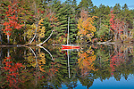 Reflection in White Lake, White Lake State Park, Tamworth, NH, USA