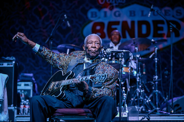 LAS VEGAS, NV - September 26: B.B. King performing at Big Blues Bender at The Riviera Hotel & Casino in Las Vegas, NV on September 26, 2014. RTNEKabik Photography/ MediaPunch***HOUSE COVERAGE***