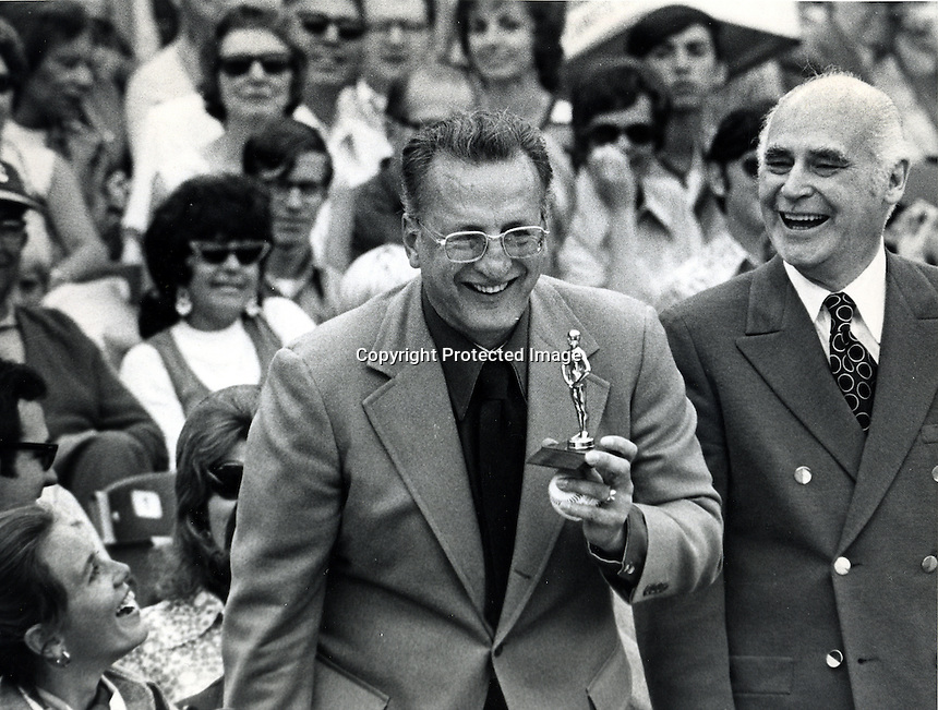 World Series 1972: George C. Scott with Oakland A's owner Charles O. Finley. (1972 photo/Ron Riesterer)