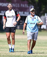 Robert du Preez with Robert du Preez (Head Coach) of the Cell C Sharks during the cell c sharks pre season training session at  Growthpoint Kings Park ,22,01,2018 Photo by Steve Haag)