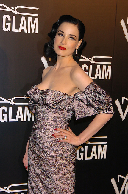 WWW.ACEPIXS.COM . . . . .  ....September 6, 2006, New York City. ....Dita Von Teese arrives at the M.A.C. Aids Fund Announces New Viva Glam VI Campaign Dinner held at Cedar Lake. ....Please byline: AJ Sokalner - ACEPIXS.COM..... *** ***..Ace Pictures, Inc:  ..(212) 243-8787 or (646) 769 0430..e-mail: info@acepixs.com..web: http://www.acepixs.com