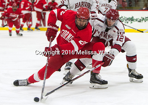 Jeff Malott (Cornell - 22), John Marino (Harvard - 12) - The Harvard University Crimson defeated the visiting Cornell University Big Red on Saturday, November 5, 2016, at the Bright-Landry Hockey Center in Boston, Massachusetts.