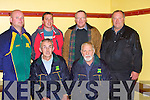 The Chairman and  committee members of Kilmoyley Hurling Club: Mike Meehan(selector).and Sean Murnane(Chairman). Back l-r: Maurice Fitzgerald,  TJ Maunsell (PRO), Maurice McElligott and Brendan McElligott (selectors....................at  the Kilmoyley team press night ahead of the County Hurling Final