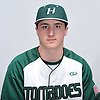 Gavin Buda of Harborfields poses for a portrait during Newsday's varsity baseball season preview photo shoot at company headquarters on Saturday, March 18, 2017.