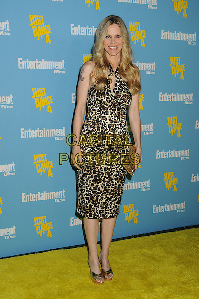 Kristin Bauer van Straten.Entertainment Weekly's Comic-Con 2012 Celebration held at the Hard Rock Hotel Float Lounge, San Diego, California, USA..July 14th, 2012.full length dress leopard print gold clutch  bag black brown .CAP/ADM/BP.©Byron Purvis/AdMedia/Capital Pictures.