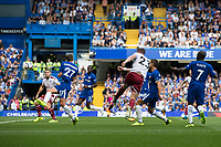 Burnley's Stephen Ward scores his sides second goal <br /> <br /> Photographer Craig Mercer/CameraSport<br /> <br /> The Premier League - Chelsea v Burnley - Saturday August 12th 2017 - Stamford Bridge - London<br /> <br /> World Copyright &copy; 2017 CameraSport. All rights reserved. 43 Linden Ave. Countesthorpe. Leicester. England. LE8 5PG - Tel: +44 (0) 116 277 4147 - admin@camerasport.com - www.camerasport.com