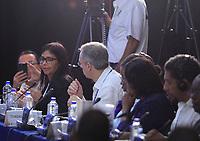 """**AMPLÍA INFORMACIÓN ** MEX08. CANCÚN (MÉXICO), 19/06/2017.- La canciller de Venezuela, Delcy Rodríguez (2i), habla hoy, lunes 19 de junio de 2017, durante de la 29ª Reunión de Consulta de Ministros de Relaciones Exteriores previo a la inauguración de la 47 Asamblea General de la Organización de Estados Americanos (OEA), en Cancún, en el estado de Quintana Roo (México). Rodríguez dijo hoy que el país caribeño no """"va a avalar"""" la resolución que surja sobre la nación de la reunión de cancilleres celebrada en el marco de la 47 Asamblea General de la OEA. """"Nosotros no reconocemos esta reunión, como tampoco reconocemos la resulta que de ella devenga. (...) Indistintamente de lo que de aquí salga, Venezuela no lo va a avalar"""", apuntó la canciller ante el resto de representantes de los países miembros de la OEA. EFE/Alonso Cupul"""