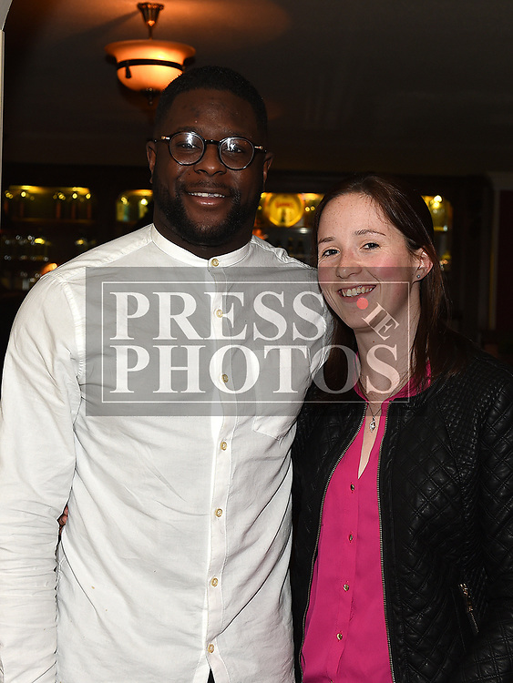 Miguel Kaguako and Louise Rafferty at the launch of Newtown Blues Strictly Come Dancing in Garvey's. Photo:Colin Bell/pressphotos.ie