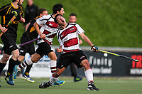 Kalyan Jeram of North Harbour celebrates his equalising goal during  the mens final, Capital v North Harbour. National Hockey League Finals Day action, National Hockey Stadium, Wellington, New Zealand. Sunday 23 September 2018. Photo: Simon Watts/www.bwmedia.co.nz/Hockey NZ