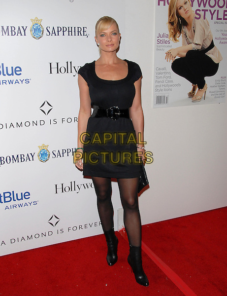 JAIME PRESSLY.attends The 4th Annual Hollywood Style Awards held at Th ePacific Design Center in Beverly Hills, California, USA, October 07 2007.   .full length black dress ankle boots belt tights jamie fringe                                                                     .CAP/DVS.©Debbie VanStory/Capital Pictures