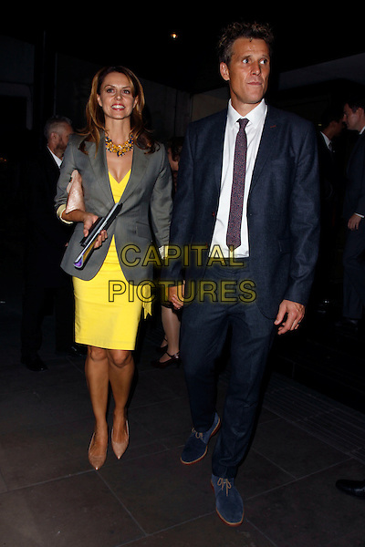 LONDON, ENGLAND - SEPTEMBER 28 :  Beverley Turner and James Cracknell leave The Pride Of Britain Awards 2015, at the Grosvenor House Hotel on September 28, 2015 in London, England.<br /> CAP/AH<br /> &copy;Adam Houghton/Capital Pictures
