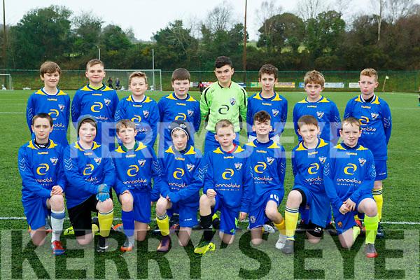 The Killorglin team that played St Brendans Park in the u13 leaguein Killorglin on Saturday morning