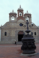 Spanish colonial Santa Barbara Cathedral in Riobabmba, Ecuador