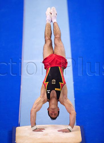 07 04 2011  Gymnastics Berlin 07 04 2011 European Championship euro Qualification Jump Sebastian Krimmer ger Gymnastics Artistic