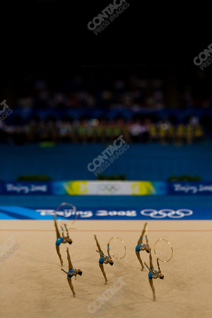Rhythmic Gymnastics, Italy, qualifying rounds, Summer Olympics, Beijing, China, August 22, 2008