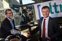 Roberto Giachetti, Piero Fassina <br /> Roma 03-05-2016 Citta' dell'Altra Economia <br /> Confronto pubblico tra alcuni dei candidati a sindaco di Roma. <br /> Public debate between Rome's mayor candidates . <br /> Foto Andrea Staccioli Insidefoto