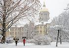 Feb. 1, 2015; Snowy morning. (Photo by Matt Cashore/University of Notre Dame)