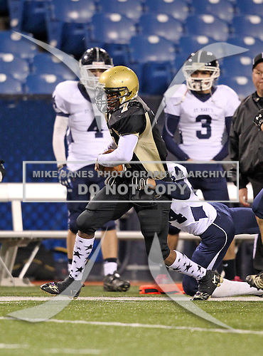 "November 11, 2010:   Cardinal O'Hara Hawks varsity football against the St. Mary's Lancers in the Monsignor Martin ""A"" Championships at Ralph Wilson Stadium in Orchard Park, New York.  Cardinal O'Hara defeated St. Mary's 25-7.  (Copyright Mike Janes Photography)"