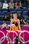 Engeland, London, 28 juli 2012.Olympische Spelen London.Epke Zonderland op de Brug met gelijke leggers