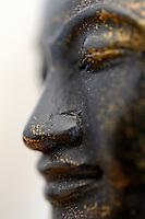 Buddha statue profile (close-up)