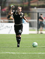 Tiffeny Milbrett celebrates her goal.  Washington Freedom defeated FC Gold Pride 4-3 at Buck Shaw Stadium in Santa Clara, California on April 26, 2009.