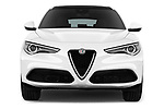 Car photography straight front view of a 2018 Alfa Romeo Stelvio Base 5 Door SUV