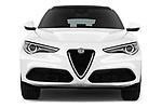 Car photography straight front view of a 2018 Alfa Romeo Stelvio Base 5 Door SUV
