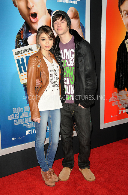WWW.ACEPIXS.COM . . . . . ....February 23 2011, Los Angeles....Actress Sarah Hyland (L) Matt Prokop arriving at the premiere of Warner Brothers' 'Hall Pass' at the Cinerama Dome on February 23, 2011 in Los Angeles, CA....Please byline: PETER WEST - ACEPIXS.COM....Ace Pictures, Inc:  ..(212) 243-8787 or (646) 679 0430..e-mail: picturedesk@acepixs.com..web: http://www.acepixs.com
