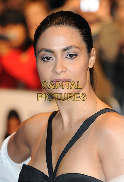 YASMINE ELMASRI.The BFI London Film Festival: 'Miral' - official screening, Vue West End cinema, Leicester Square, London, England..18th October 2010.headshot portrait black LFF. CAP/BEL.©Tom Belcher/Capital Pictures.