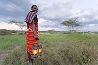 Masai Tribesman, Serengeti National Park, Tanzania, East Africa