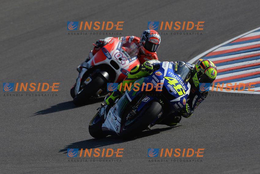 Valentino Rossi Yamaha 1st place, Andrea Dovizioso Honda 2nd place  <br /> Termas De Rio Hondo (Argentina) 19/04/2015 - gara Moto GP / foto Luca Gambuti/Image Sport/Insidefoto