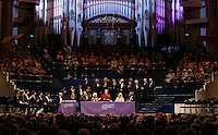 PICTURE BY VAUGHN RIDLEY/SWPIX.COM - Leeds International Piano Competition 2012 - Leeds Town Hall, Leeds, England - 15/09/12 - Sir Mark Elder, Dame Janet Baker, Dame Fanny Waterman, Lord Mayor Ann Castle and Sir David Tang.