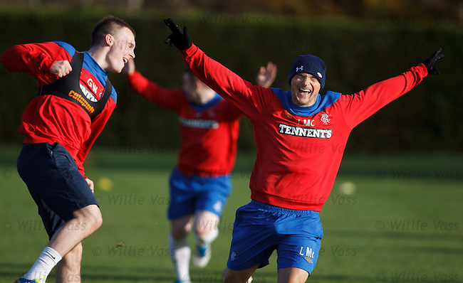 Gregg Wylde and Lee McCulloch giving it large